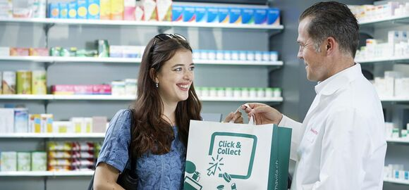 """Click & Collect"" is simple: order an item online, choose a pharmacy, collect the product.  Now at Amavita, Sun Store and Coop Vitality."