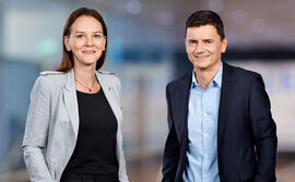 Daniela Bosshardt, Chairwoman of the Board of Directors and Marc Werner, CEO